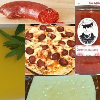 doğal pizza malzeme paketi